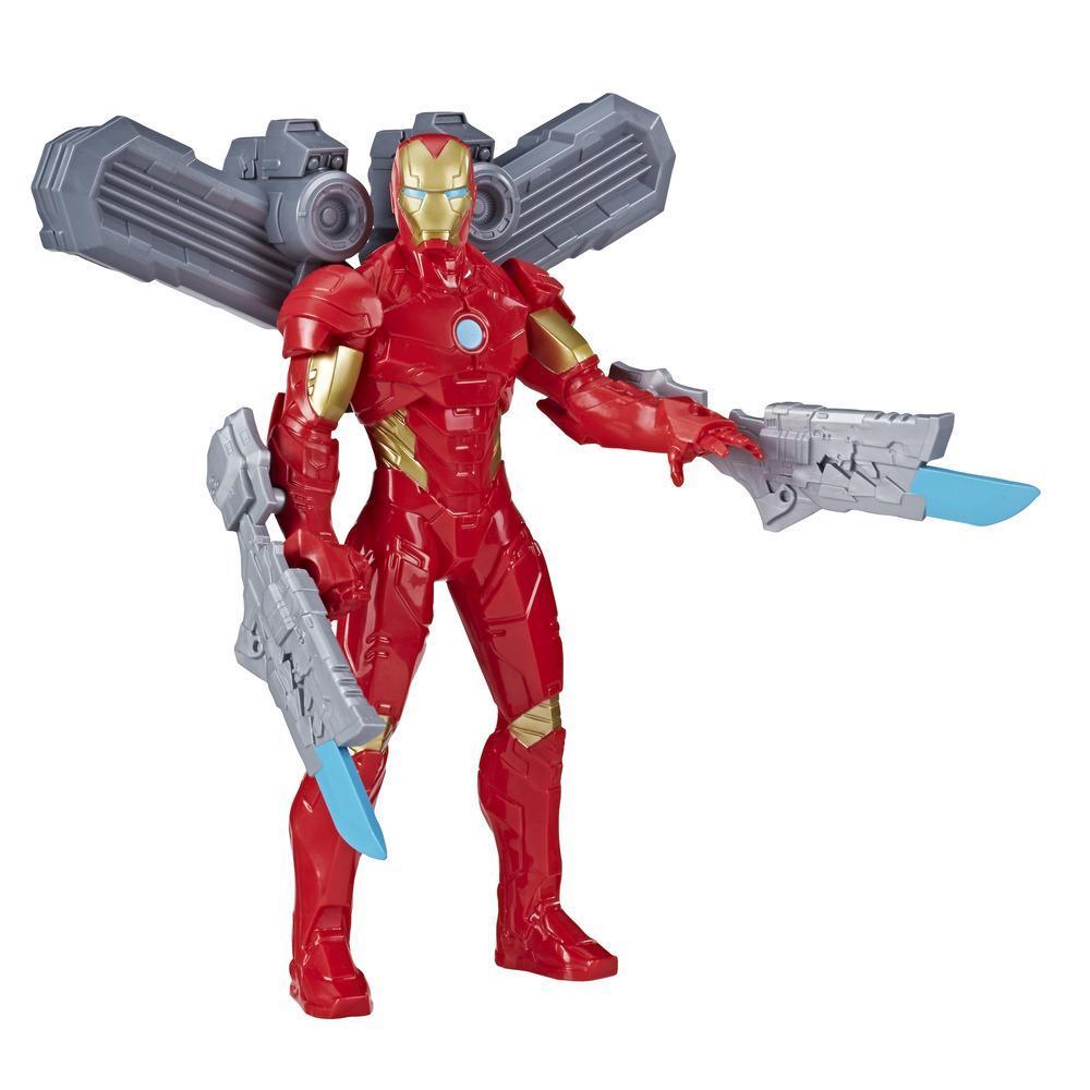 Marvel Avengers Olympus Series - Figurine articulée Iron Man de 24 cm , inclut 3 accessoires premium, pour enfants à partir de 4 ans