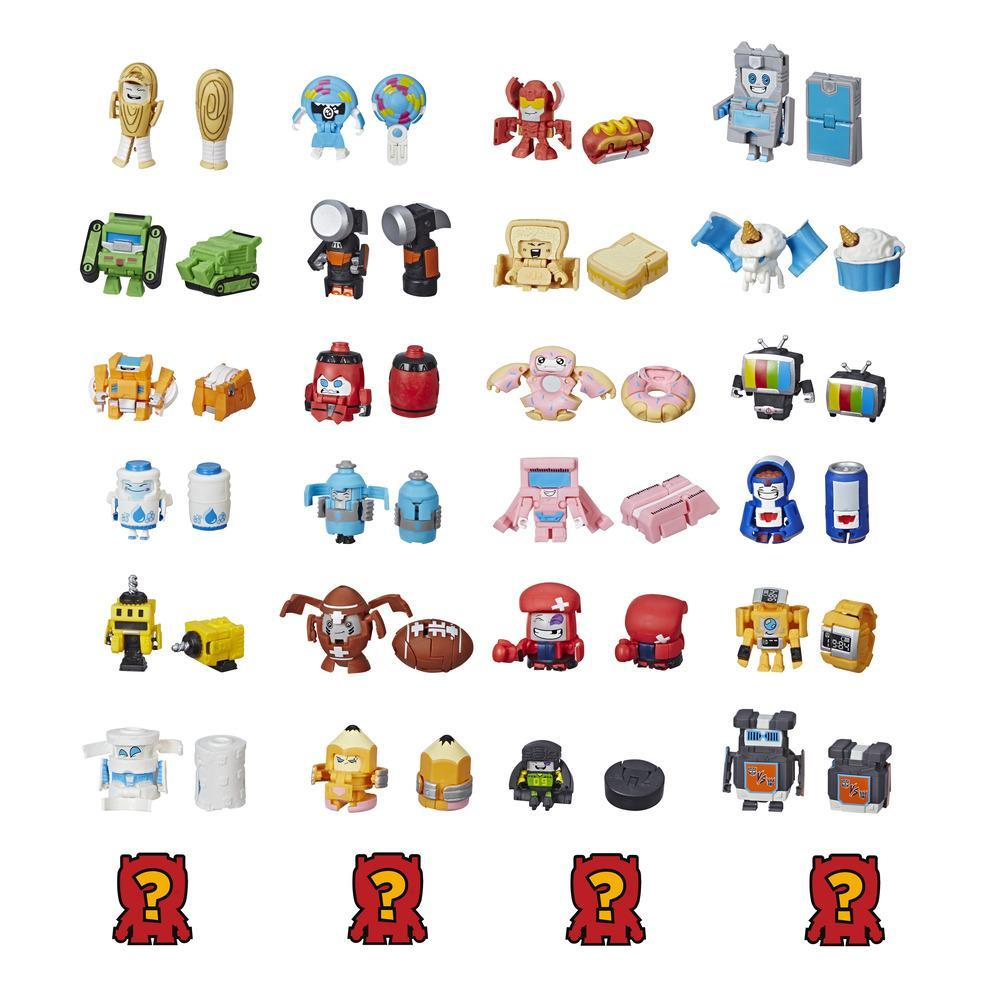Transformers Botbots - Ensemble de 8 L'Escouade sportive - Figurines mystère 2 en 1 à collectionner