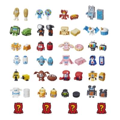 Transformers Botbots - Ensemble de 8 L'Escouade sportive - Figurines mystère 2 en 1 à collectionner
