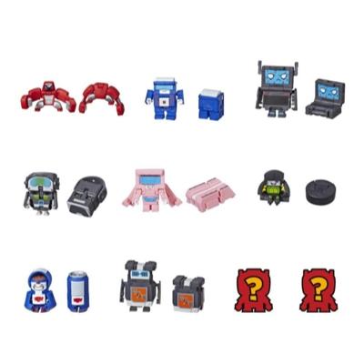Transformers Botbots - Ensemble de 5 L'Équipe techno - Figurines mystère 2 en 1 à collectionner