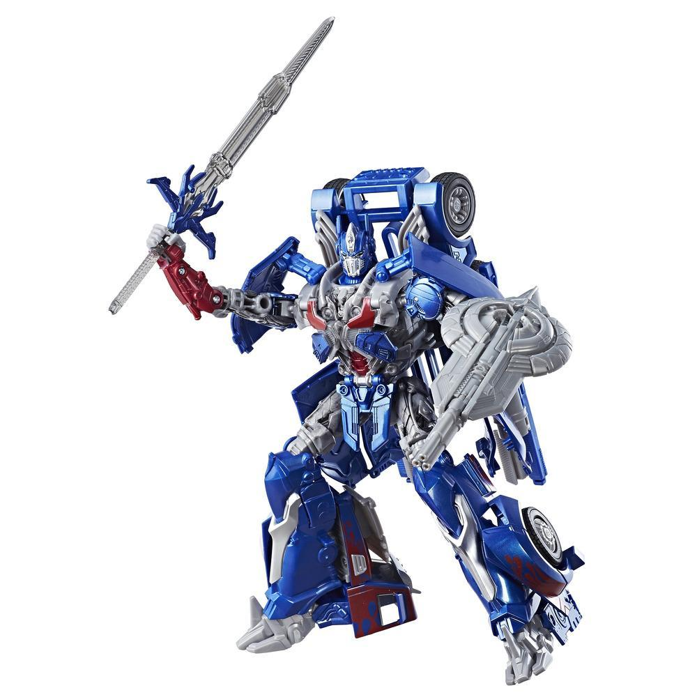 Transformers: Le dernier chevalier - Optimus Prime de classe leader Premier Edition