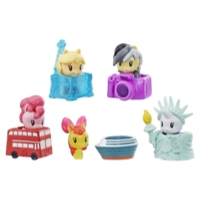 Jouet My Little Pony Cutie Mark Crew série 4, Ensemble surprise : Visite guidée, ensemble de collection contenant 5 articles, dont 2 figurines mystère, pour enfants de 4 ans et plus