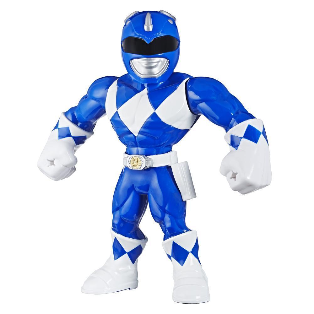 Playskool Heroes Mega Mighties Power Rangers, figurine Ranger bleu de 25 cm, jouet de collection, pour enfants, à partir de 3 ans