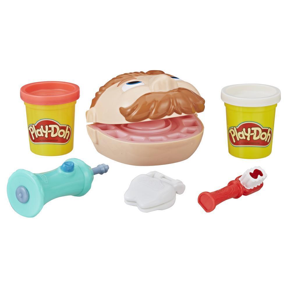 Play-Doh - Jeu Mini Docteur Denti-Brille comprenant 2 couleurs de pâte atoxique