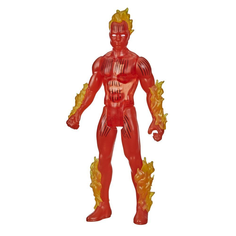 Hasbro Marvel Legends Series, figurine de collection retro Human Torch de 9,5 cm