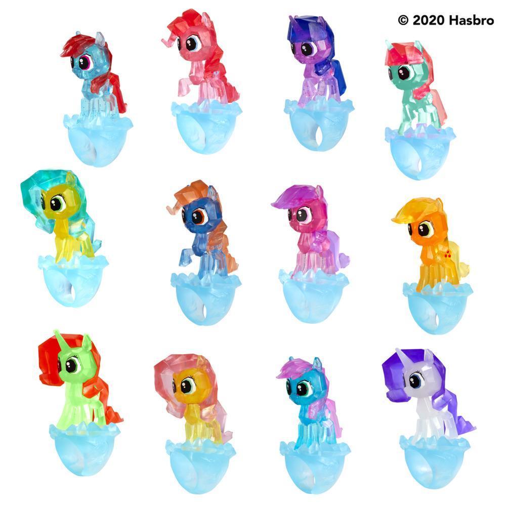My Little Pony, Bagues mystères, sachet mystère, série 3, jouet avec surprise activée par l'eau, 3 bagues à porter
