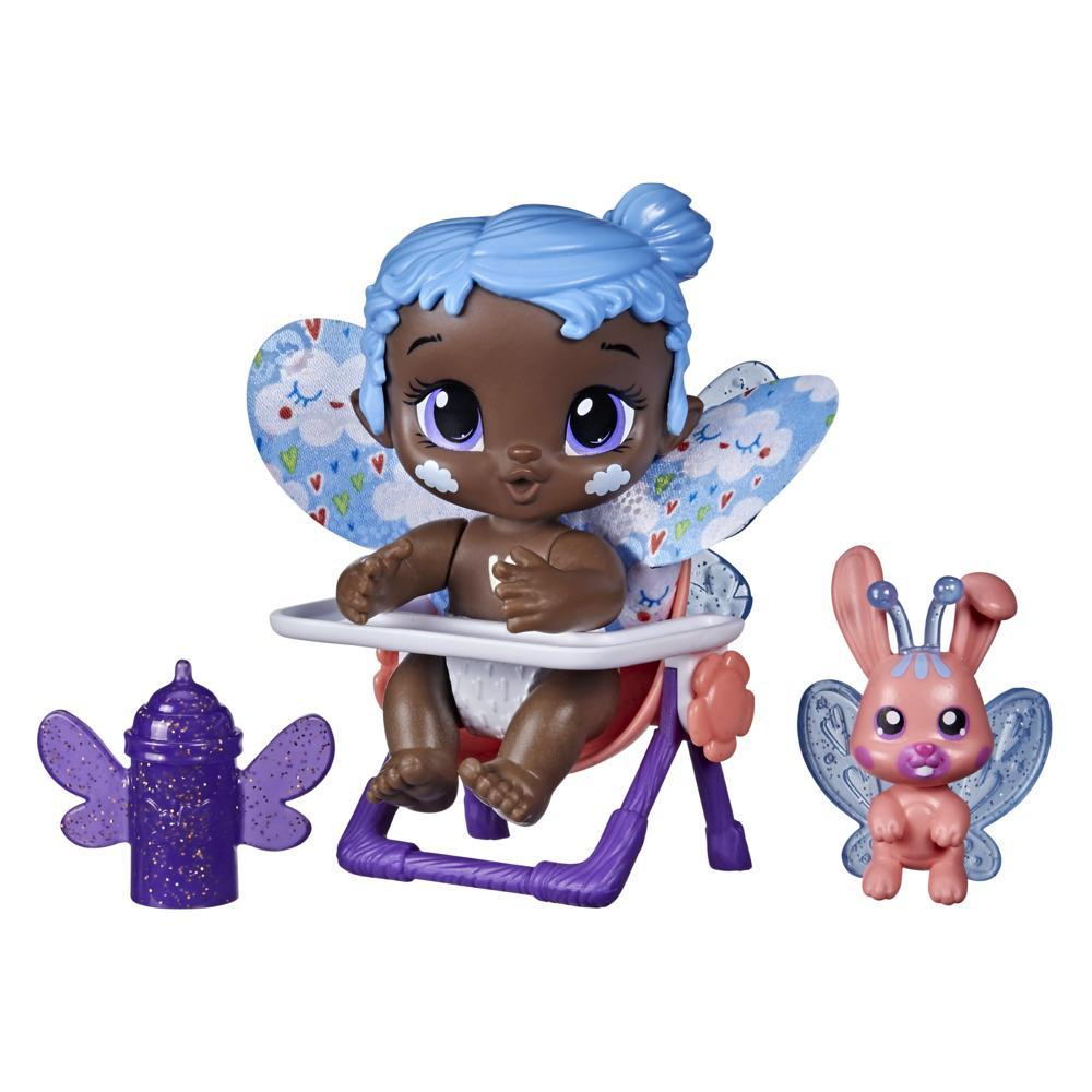 Baby Alive mini-poupée GloPixies Sky Breeze, poupée de fée phosphorescente de 9,5 cm avec ami surprise, dès 3 ans