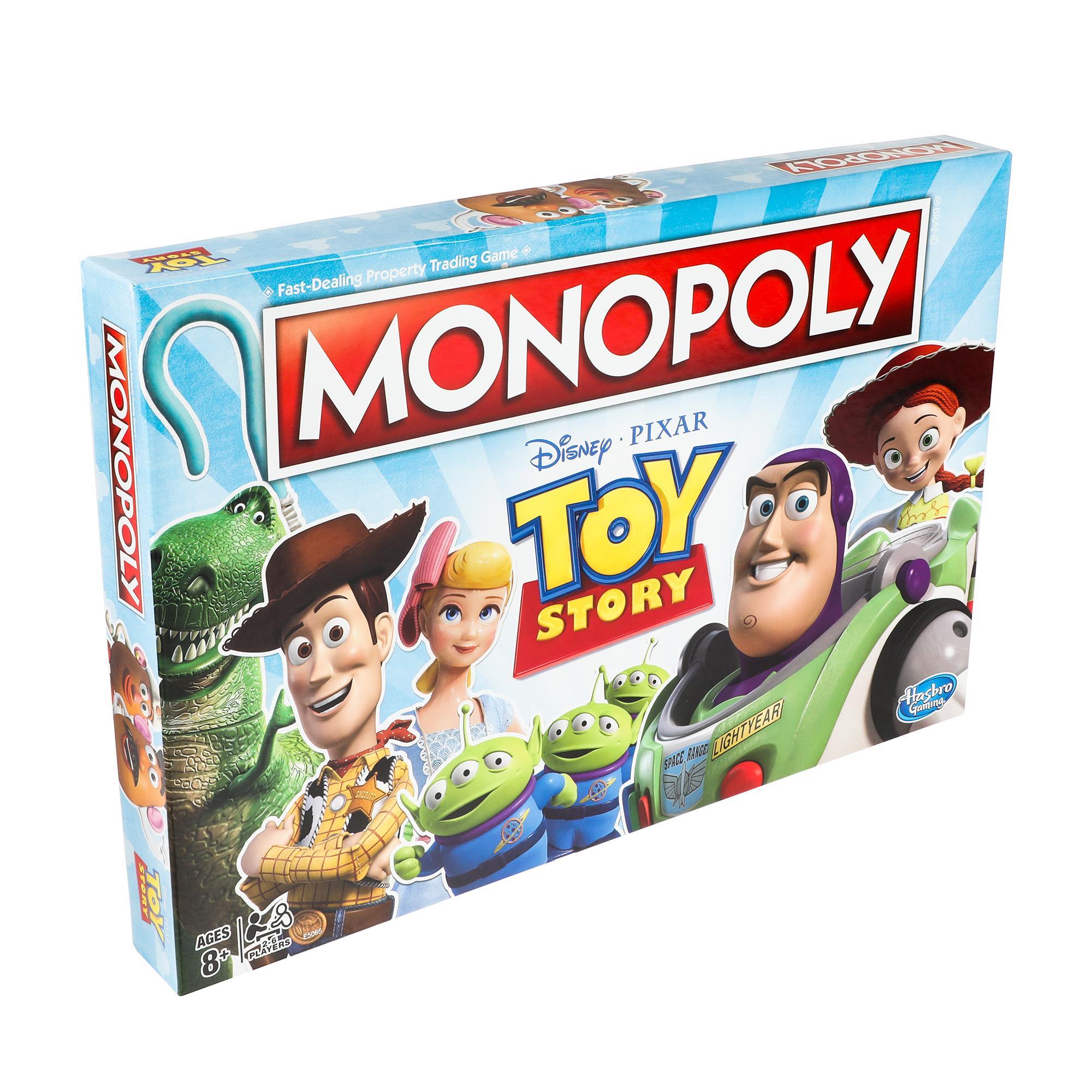 Jeu de plateau Monopoly Histoire de jouets pour la famille et les enfants de 8 ans et plus