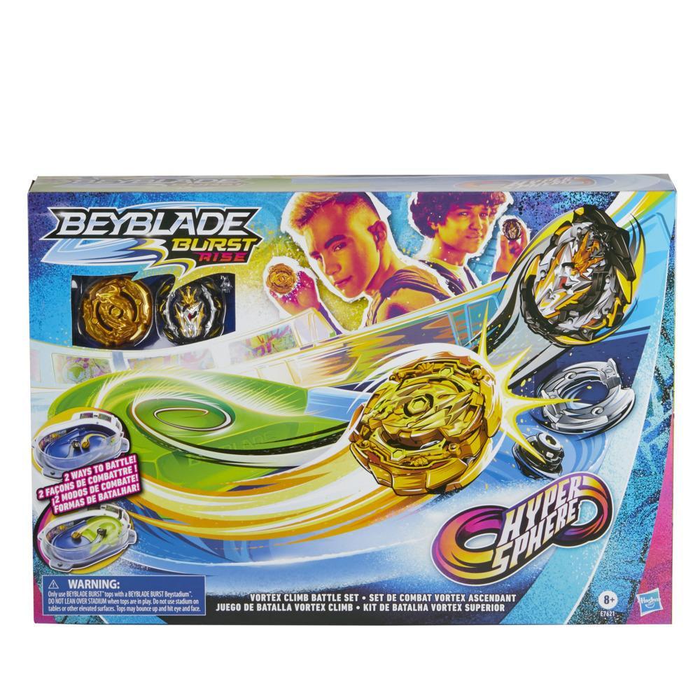 Beyblade Burst Rise Hypersphere, Set de combat Vortex avec arène Beystadium, toupies et lanceurs, à partir de 8 ans