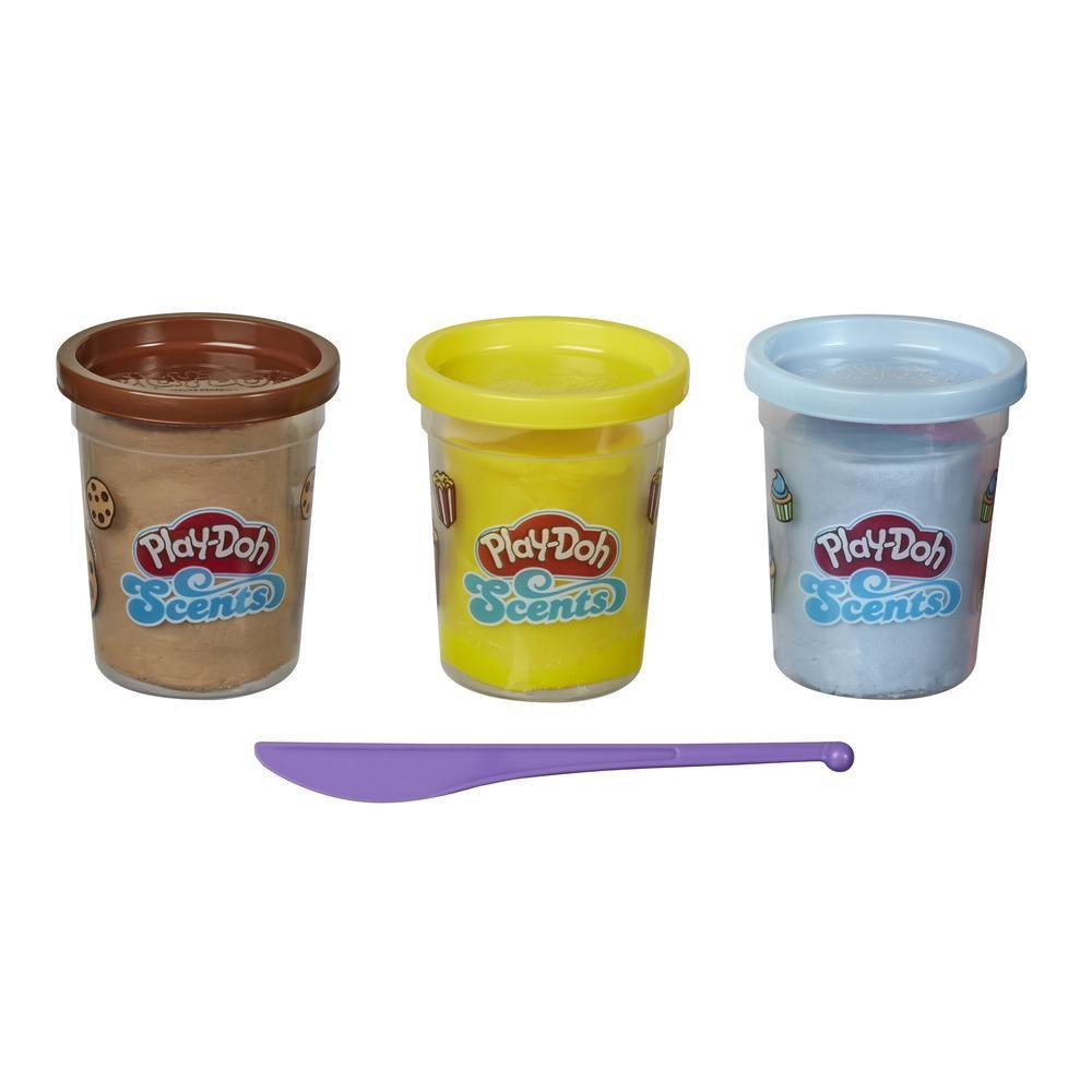 Play-Doh Scents, 3pots de pâte à modeler, parfums de collations