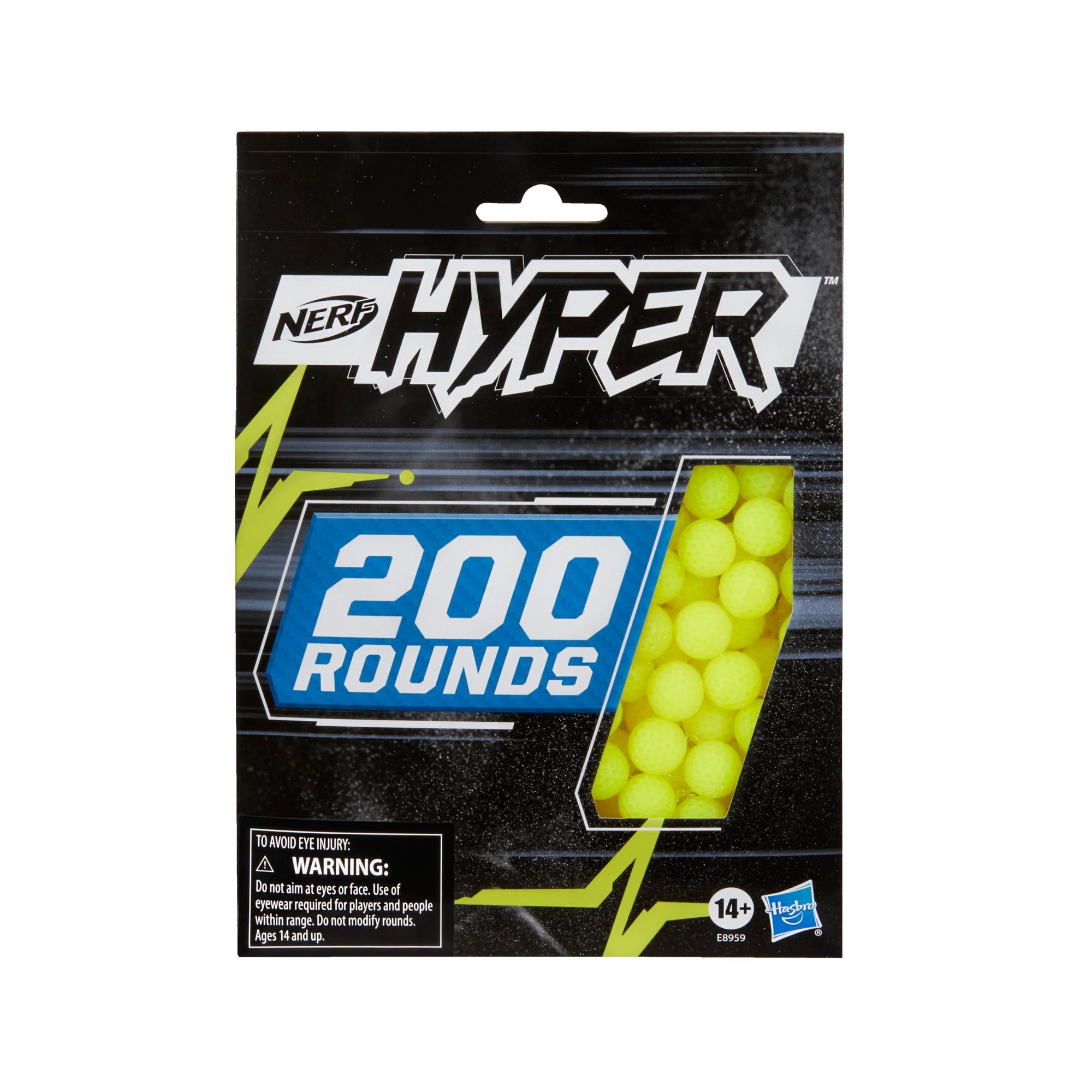 Nerf Hyper, recharge de 200 billes en mousse Nerf Hyper officielles, à utiliser avec les blaster Nerf Hyper