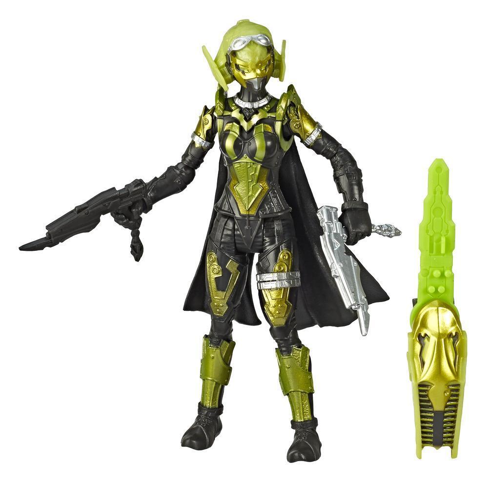Power Rangers Beast Morphers, figurine de 15 cm du cybervilain Roxy, inspirée de la série télé Power Rangers