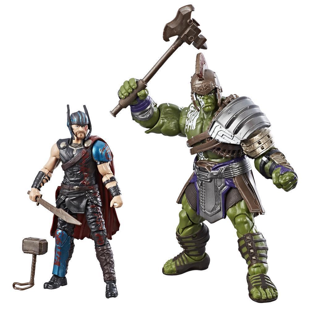 Marvel Legends Thor: Ragnarok - Duo de figurines de 9,5 cm Thor et Hulk