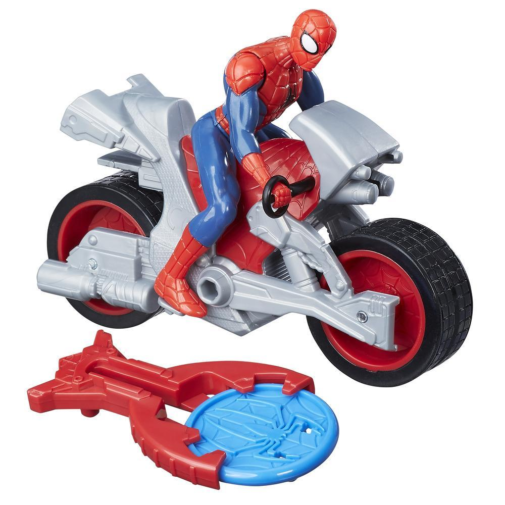 Marvel Spider-Man - Spider-Man avec moto Blast N' Go