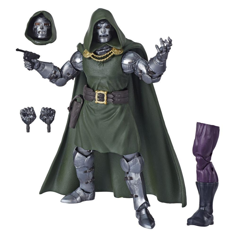 Marvel Legends Series Fantastic Four - Figurine jouet Doctor Doom de 15 cm, 4 accessoires, 1 pièce Build-a-Figure