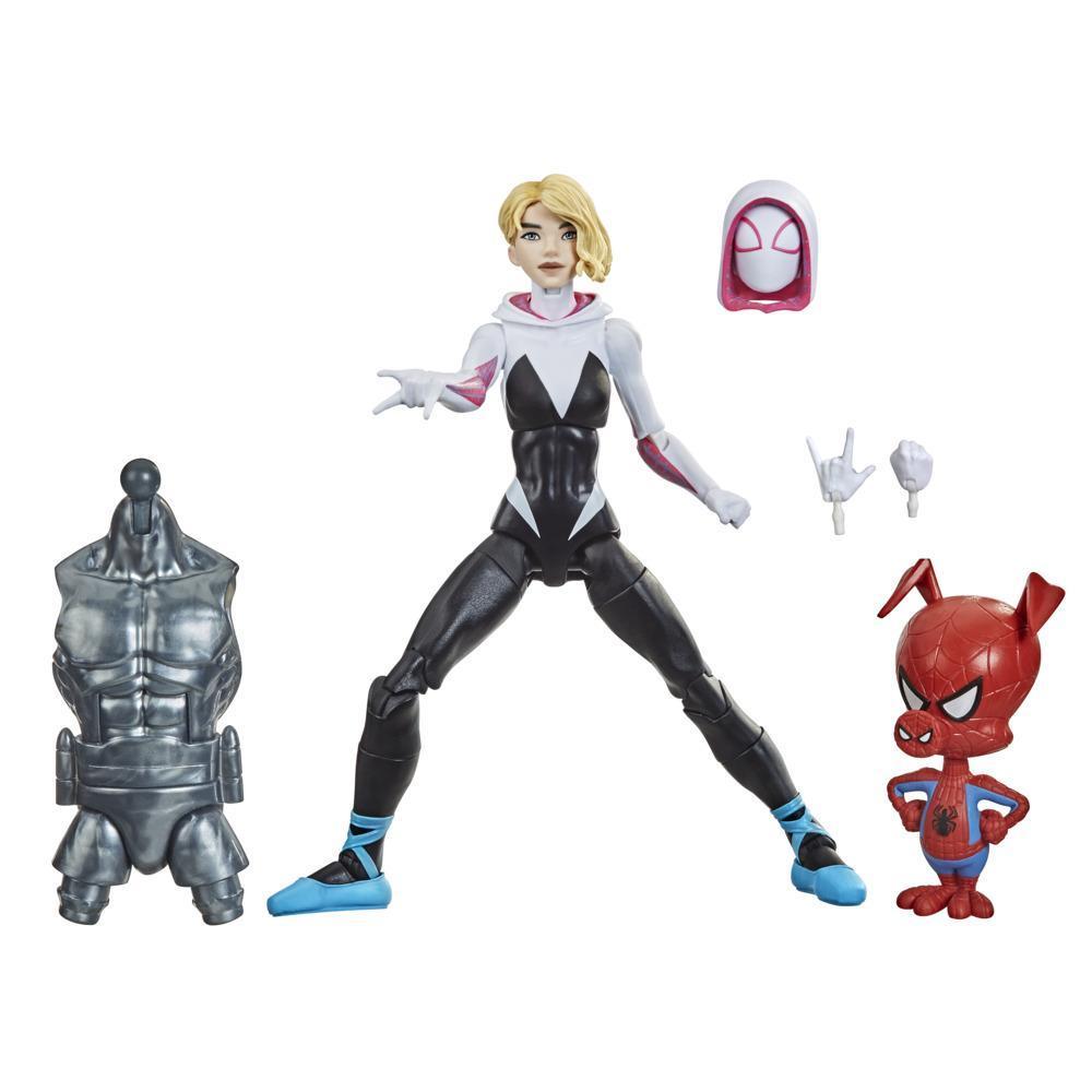 Hasbro Marvel Legends Series, Spider-Man : Dans le Spider-Verse, figurine Gwen Stacy de 15 cm et mini figurine Spider-Ham
