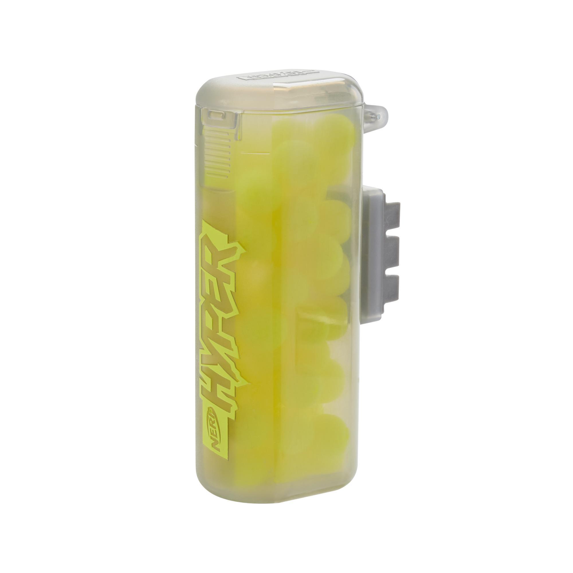 Nerf Hyper, cartouche de 50 billes en mousse, inclut cartouche à remplissage facile et 50 billes en mousse Nerf Hyper