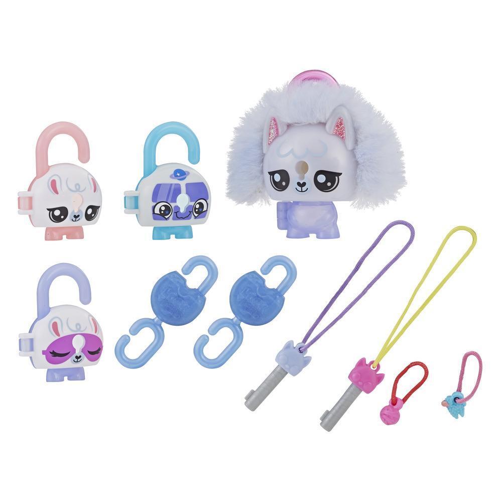 Lock Stars - Figurine de cadenas de luxe avec accessoires, lama, Série 3 (Les combinaisons peuvent varier.)