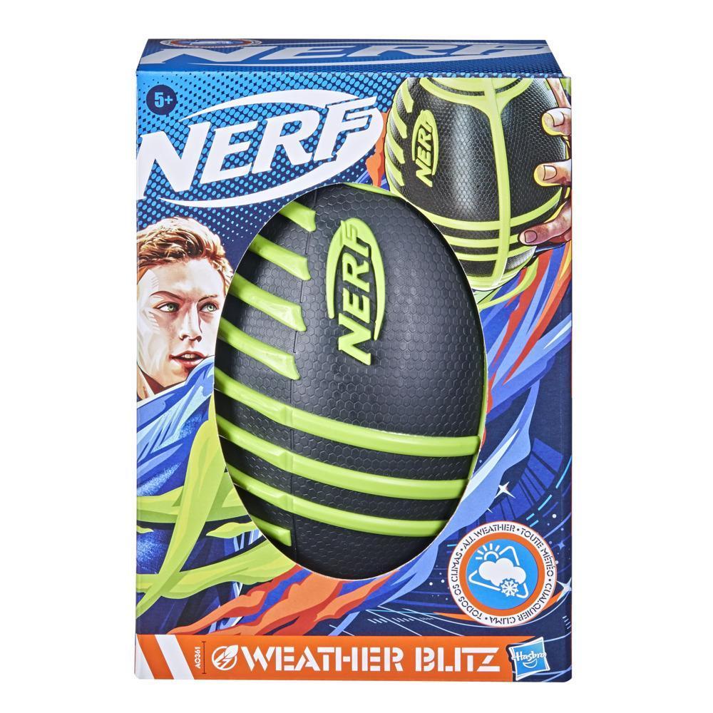 Nerf Weather Blitz - Ballon de football américain (vert)