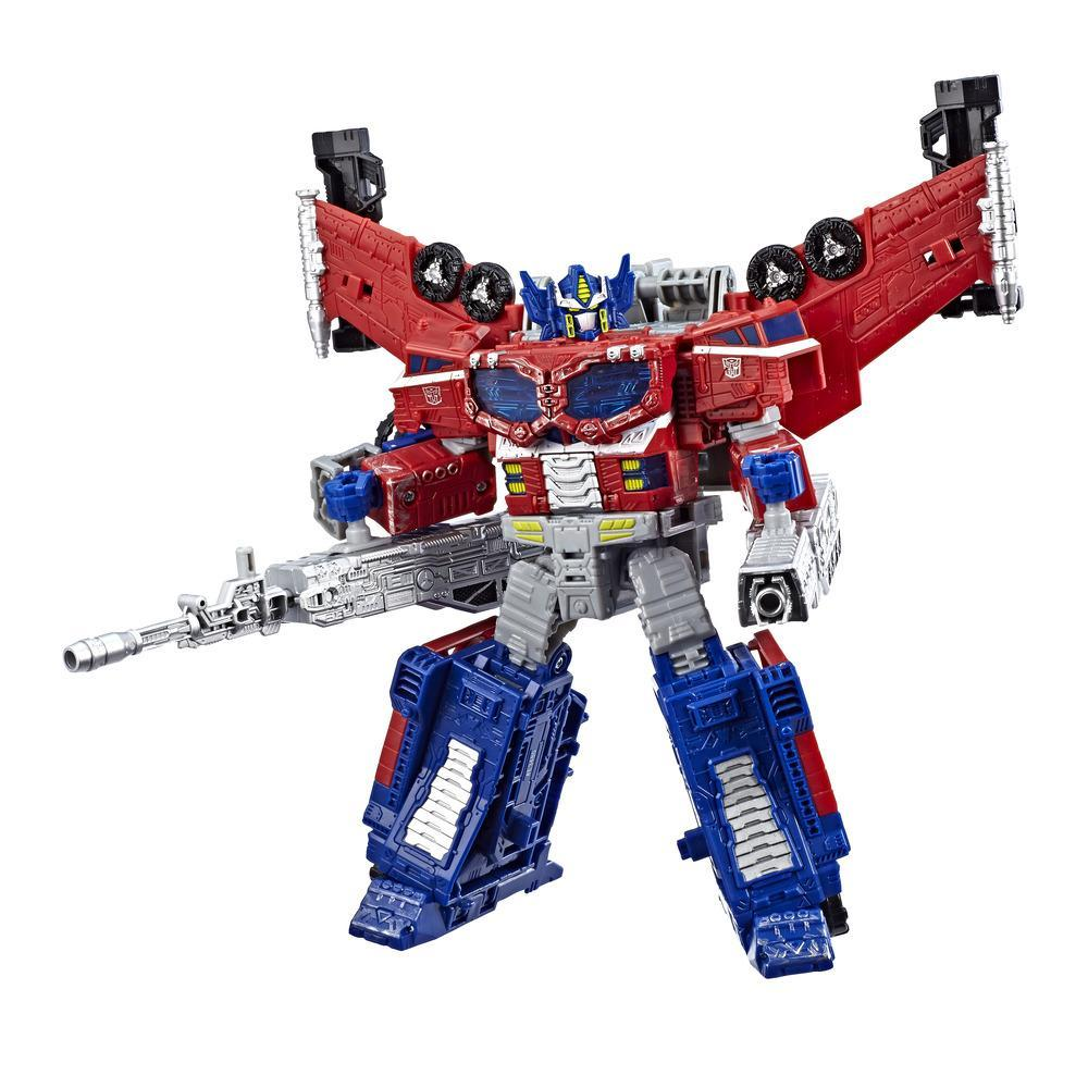 Jouets Transformers Generations War for Cybertron : Siege, figurine de classe leader Optimus Prime Amélioration galactique WFC-S40, pour adultes et enfants de 8 ans et plus, 17,5 cm