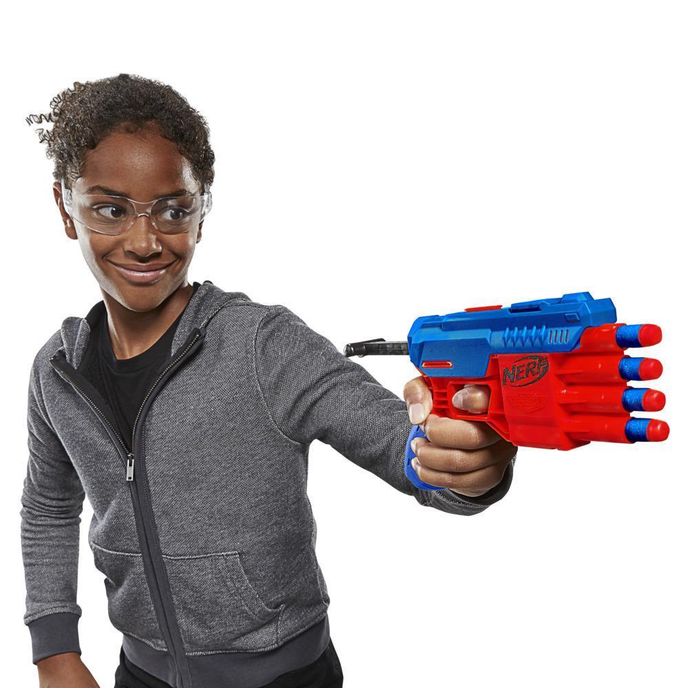 Ensemble de cible de 13 pièces Fang QS-4, Nerf Alpha Strike, incluant blaster jouet, 4 demi-cibles et 8 fléchettes Nerf Elite officielles, pour enfants, ados et adultes