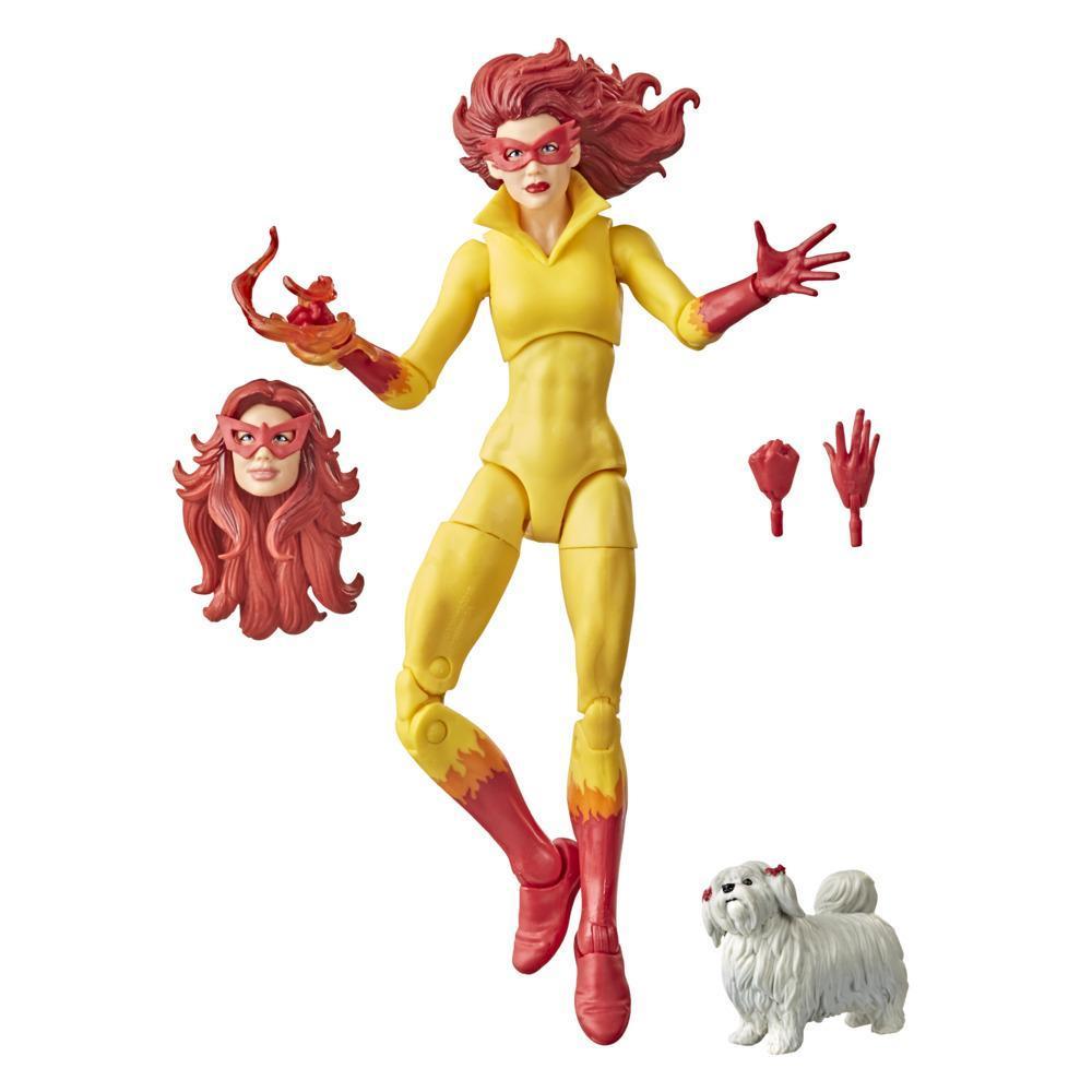 Hasbro Marvel Legends Series, figurine de collection Avengers de 15cm, Marvel's Firestar avec chien, pour enfants, dès 4 ans