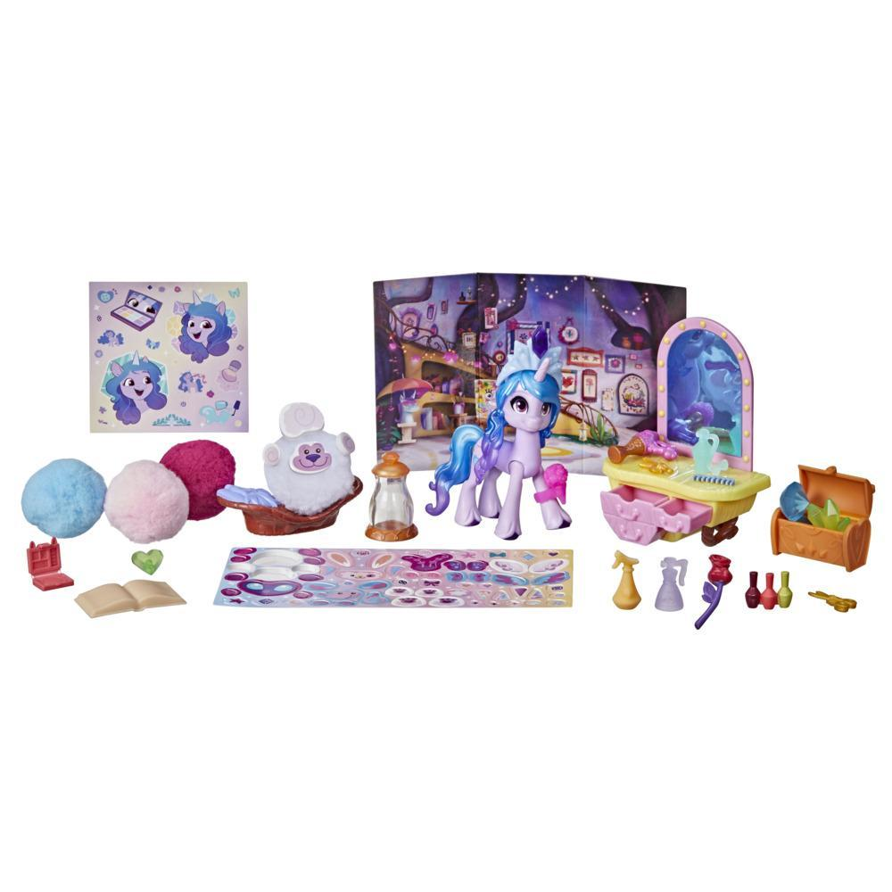 My Little Pony: A New Generation, Izzy Moonbow Créations rigolotes, 25 accessoires et poney