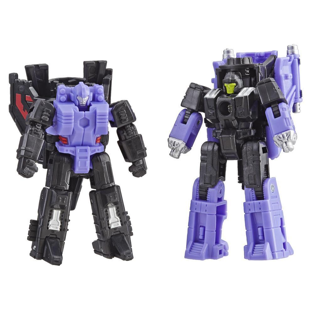 Transformers Generations War for Cybertron: Siege - Duo de figurines Micromaster Patrouille en avion Decepticon WFC-S5