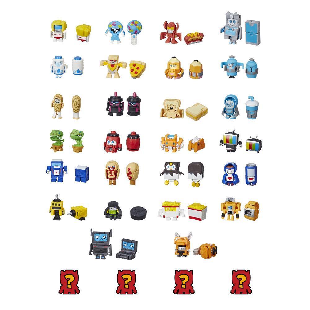 Transformers Botbots - Ensemble de 8 Les Casse-croûtes - Figurines mystère 2 en 1 à collectionner
