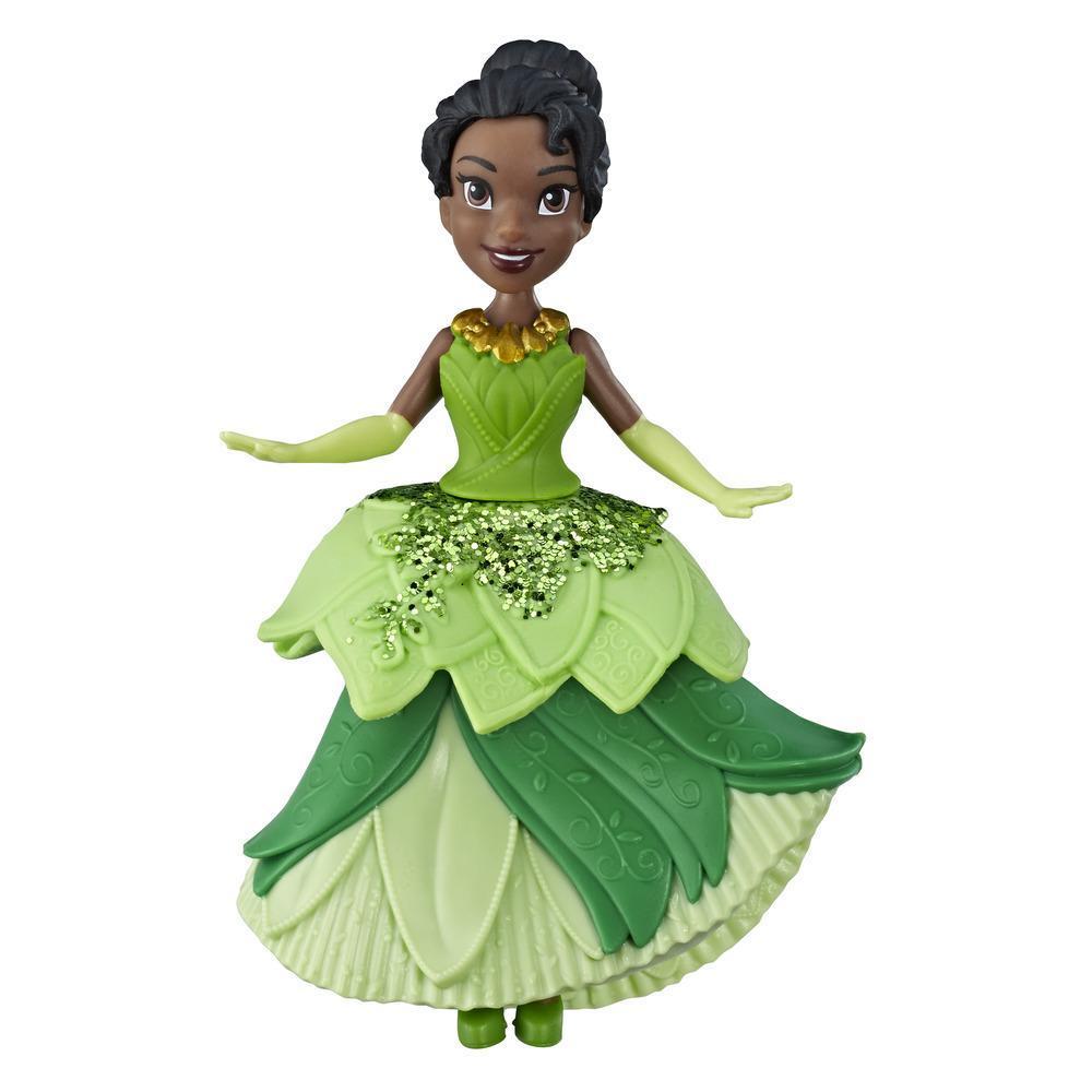 Disney Princesses Royal Clip - Mini poupée Tiana de collection avec tenue verte scintillante, jouet pour les enfants à partir de 3ans