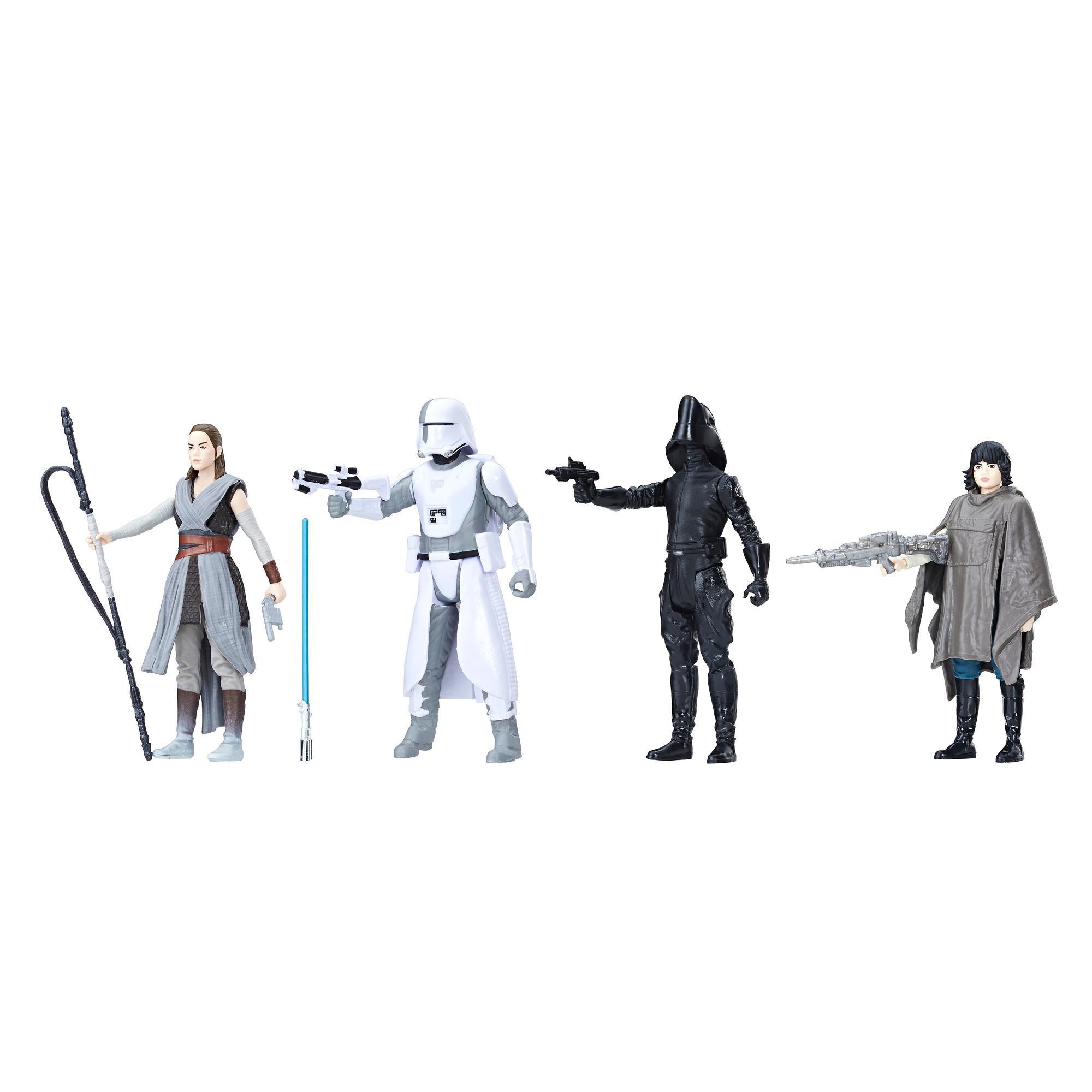 Star Wars Force Link - Quatuor de figurines de 9,5 cm Combat sur Crait