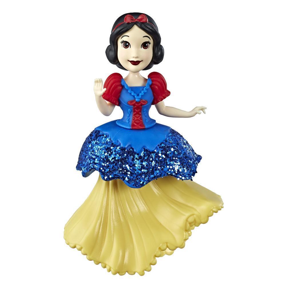 Disney Princesses Royal Clip - Mini poupée Blanche-Neige de collection avec tenue bleue et jaune scintillante, jouet pour les enfants à partir de 3ans