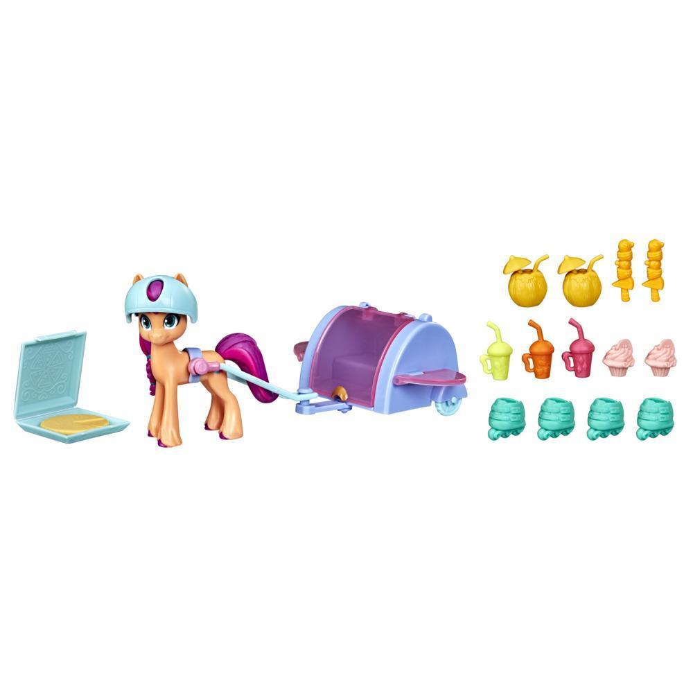 My Little Pony: A New Generation Sunny Starscout En balade, poney orange de 7,5 cm avec 17 accessoires