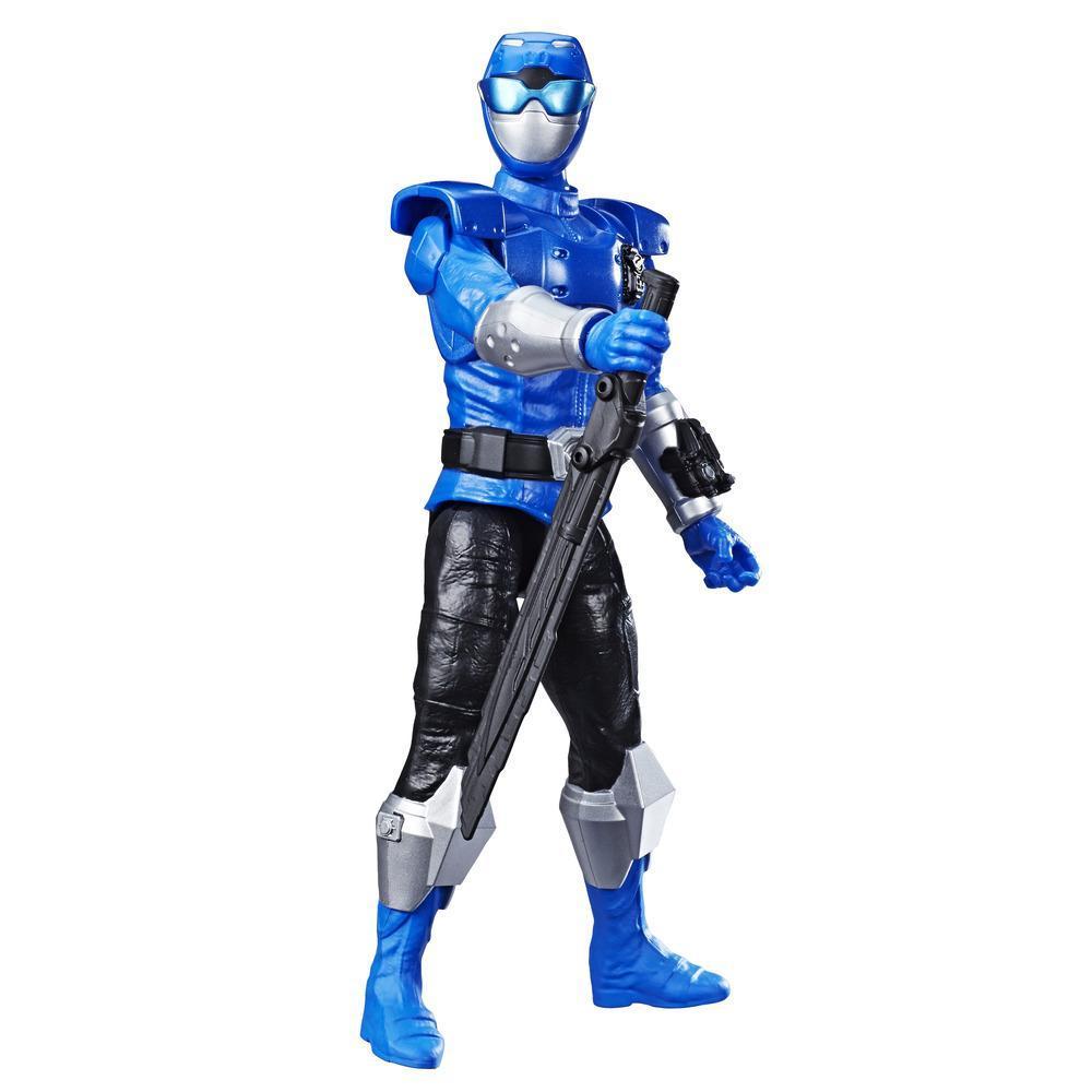 Power Rangers Beast Morphers - Figurine jouet de 30 cm Ranger bleu Beast-X inspirée de la série télé Power Rangers
