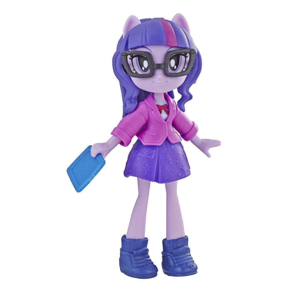 My Little Pony Equestria Girls - Minipoupée Twilight Sparkle de 7,5 cm de la collection Peloton stylé, offerte avec tenue, chaussures et accessoire amovibles, pour filles de 5 ans et plus