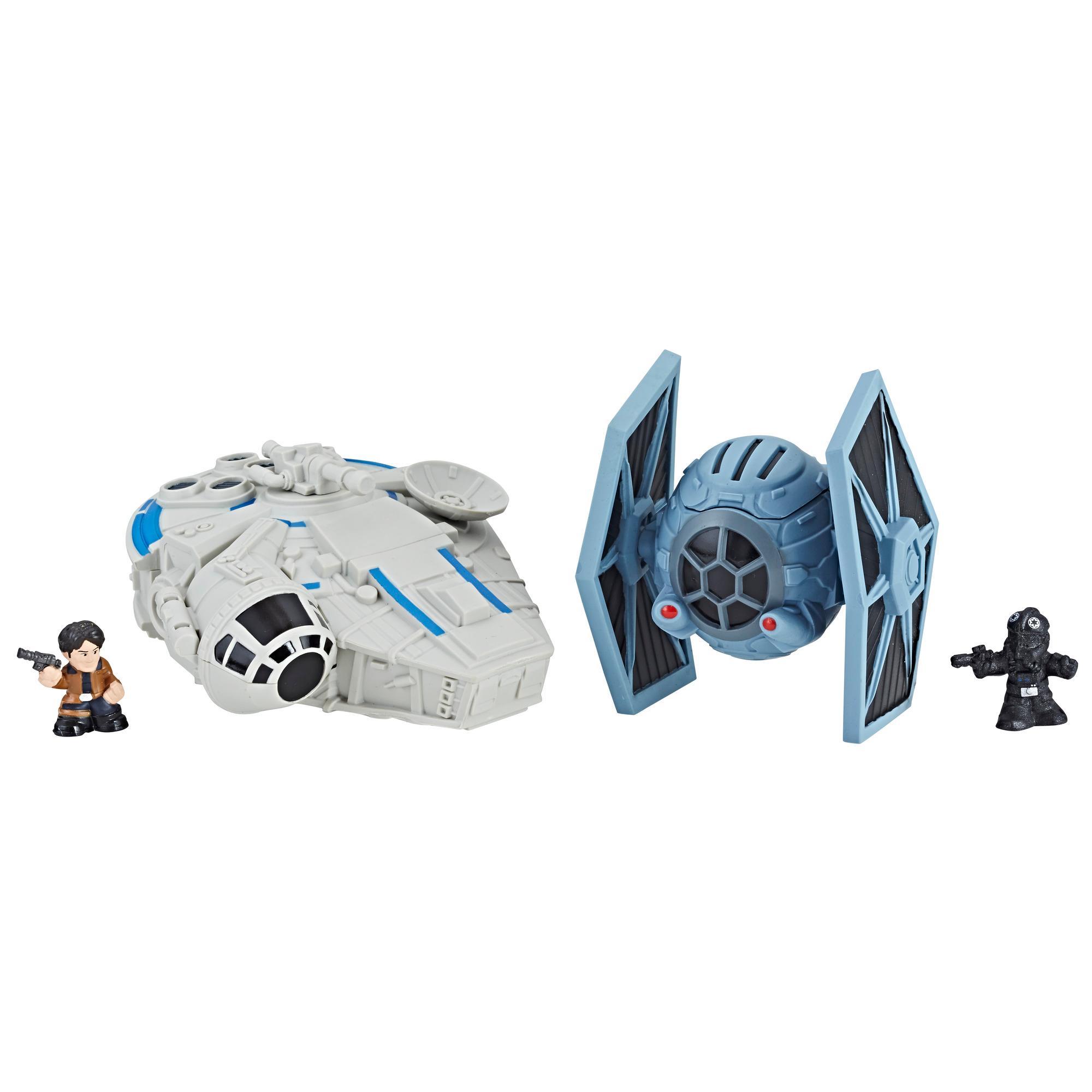Star Wars Micro Force - Duo de véhicules Faucon Millenium vs. chasseur TIE