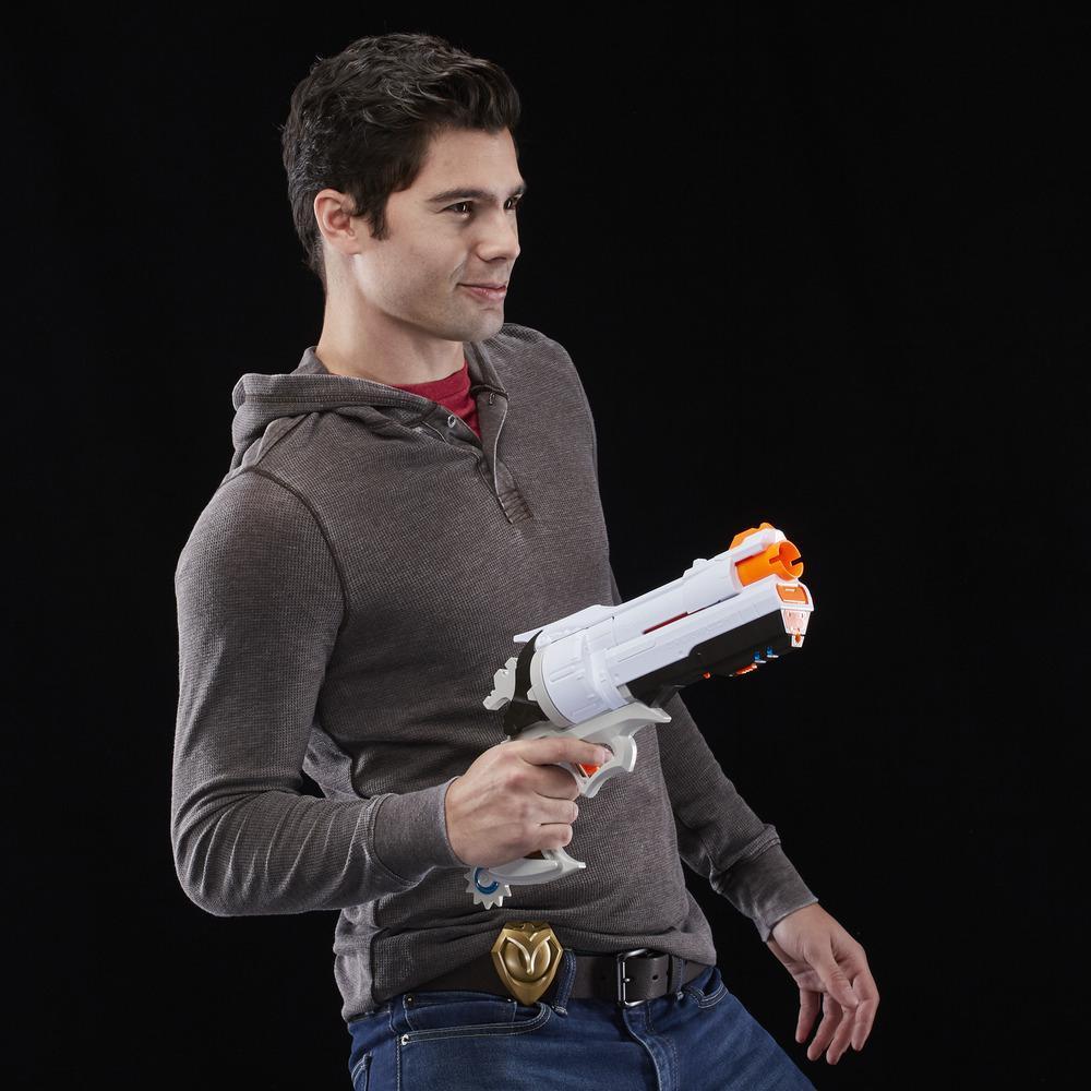 Foudroyeur Overwatch McCree Nerf Rival avec insigne en métal moulé et 6 balles Overwatch Nerf Rival
