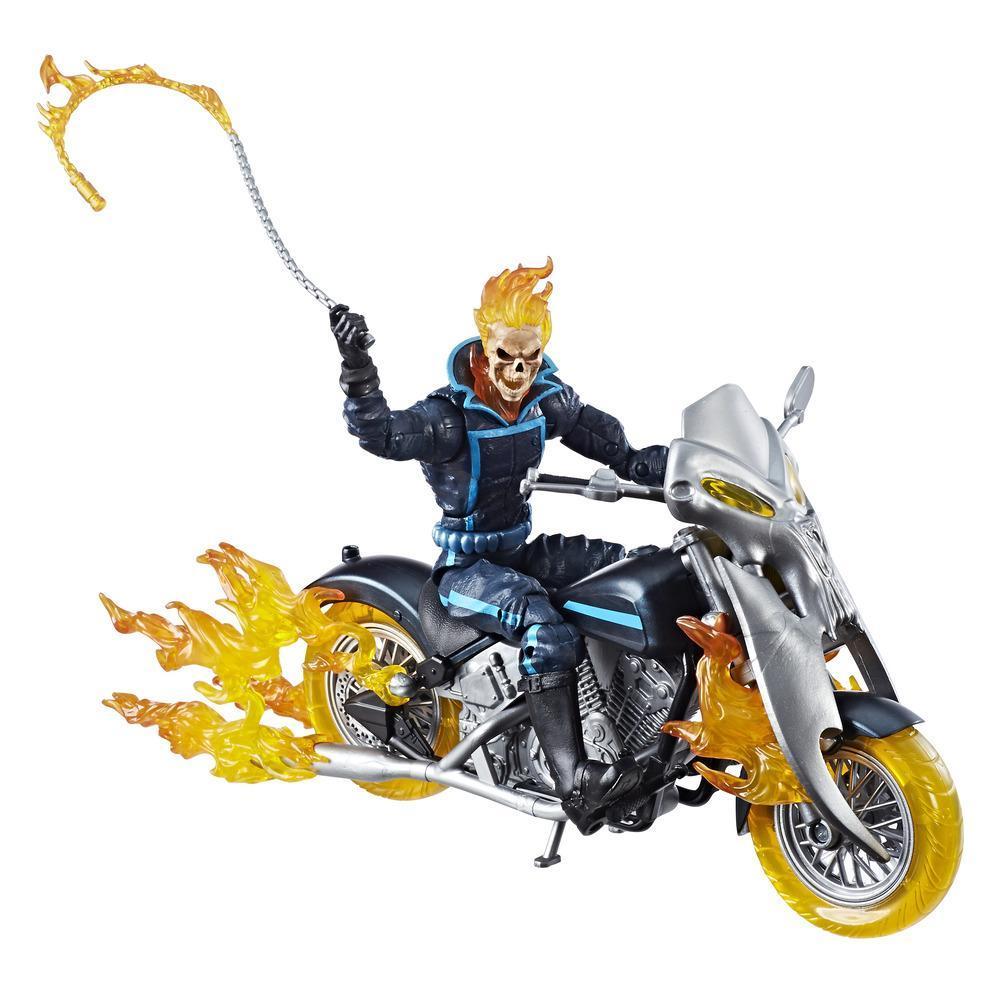Série Marvel Legends - Figurine Ghost Rider de 15 cm avec moto de feu