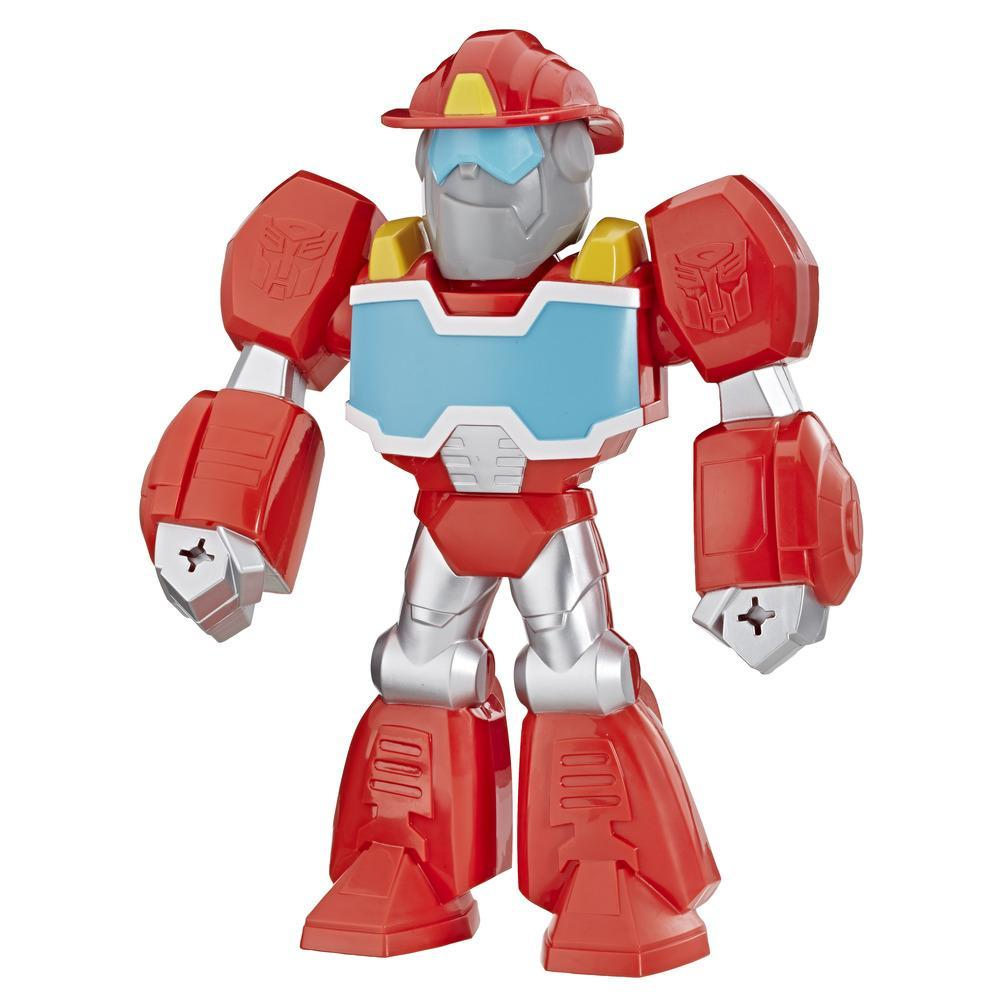Playskool Heroes Transformers Rescue Bots Academy Mega Mighties - Figurine de 25 cm articulée de robot Heatwave le robot pompier de collection