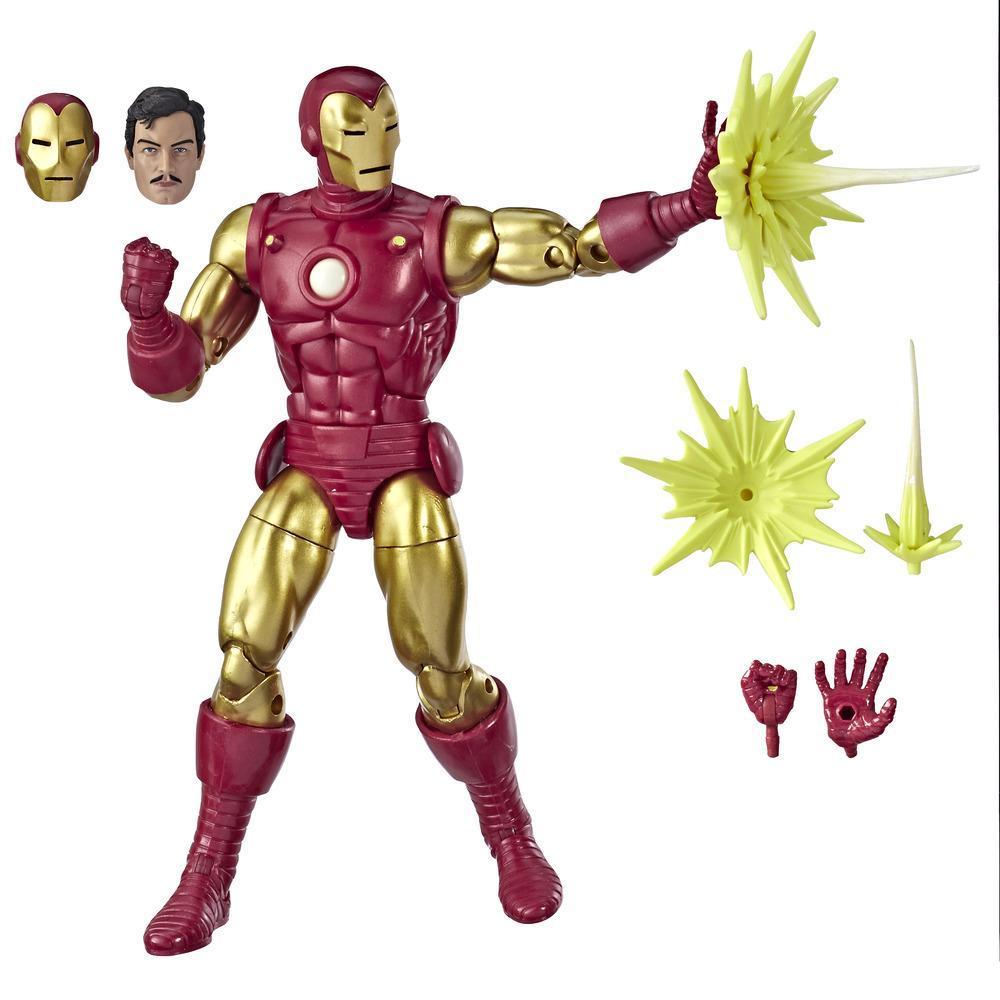 Marvel Comics 80th Anniversary Legends Series - Figurine articulée Iron Man de 15 cm