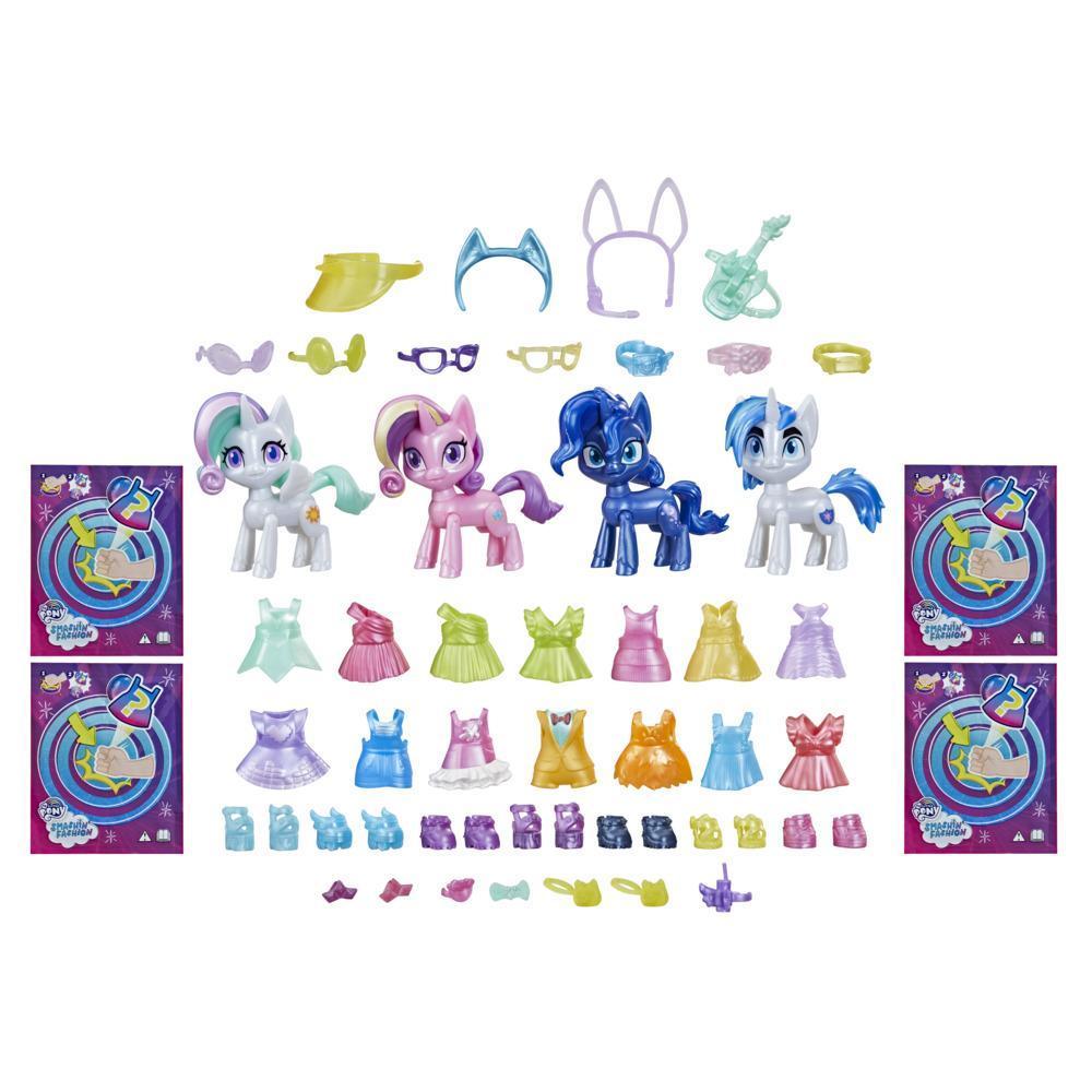 My Little Pony Smashin' Fashion coffret Première royale : 50 pièces, 4 figurines articulées avec accessoires surprises