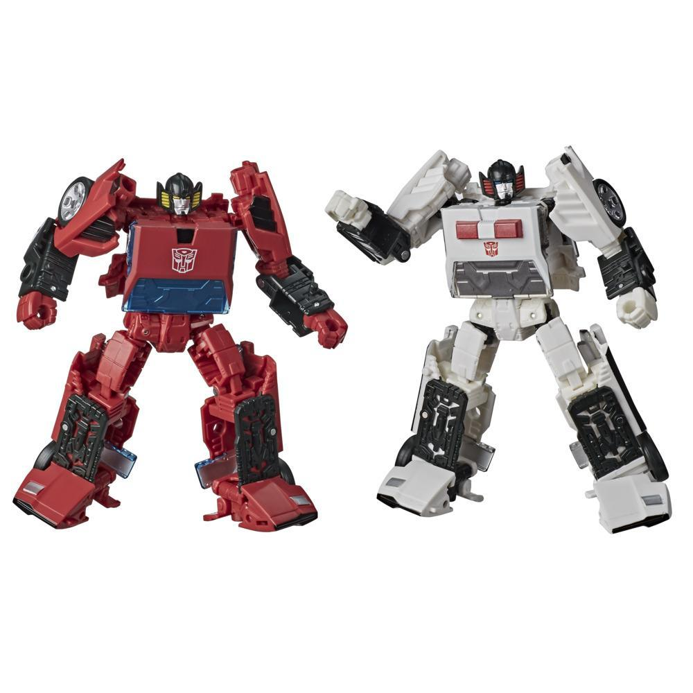 Transformers Generations Selects, figurines WFC-GS20 Cordon et Autobot Spin-Out, War for Cybertron, classe Deluxe, 14 cm