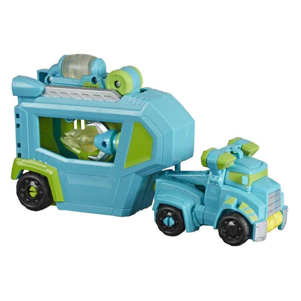 Playskool Heroes Transformers Rescue Bots Academy - Jouet Centre de commandement Hoist avec remorque et outil qui s'illumine