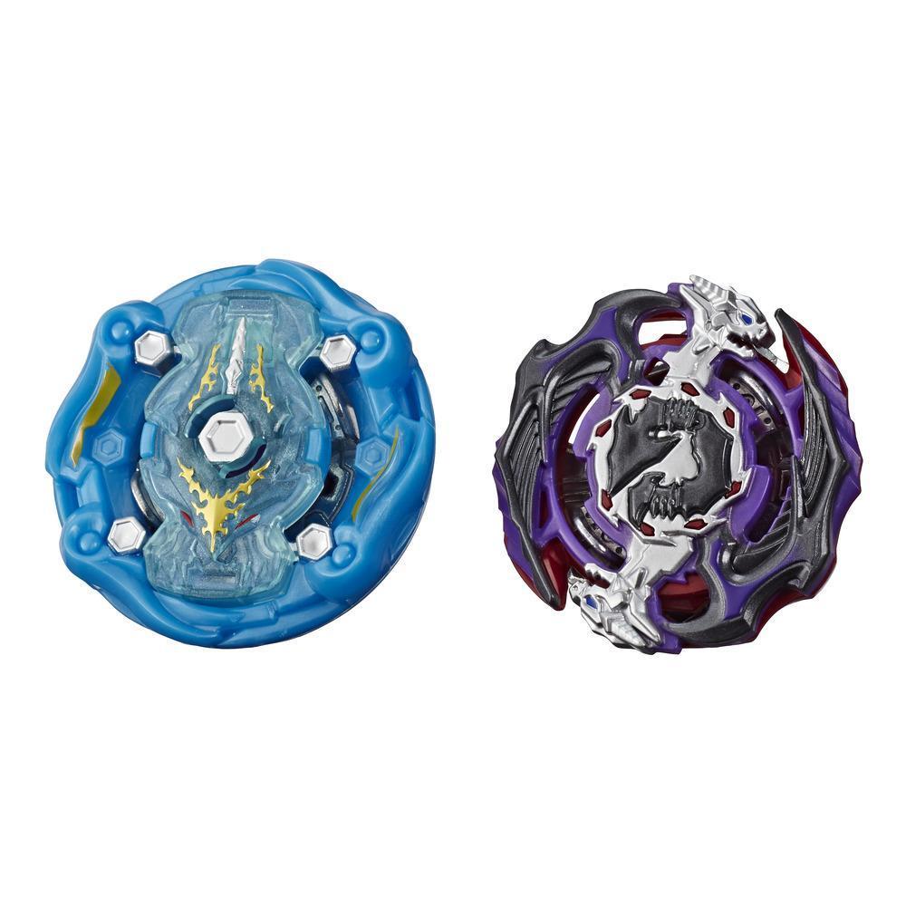 Beyblade Burst Rise Hypersphere - Pack de 2 Cosmic Kraken K5 et Gargoyle G5, 2 toupies de compétition à rotation droite