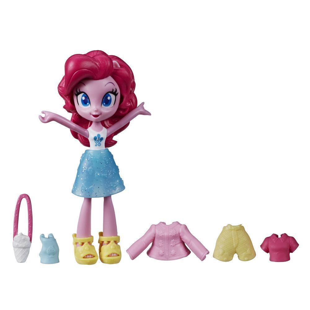 My Little Pony Equestria Girls,  mini-poupée en potion Pinkie Pie de 7,5 cm, de la collection Brigade de la mode, vendue avec tenue et accessoires surprises