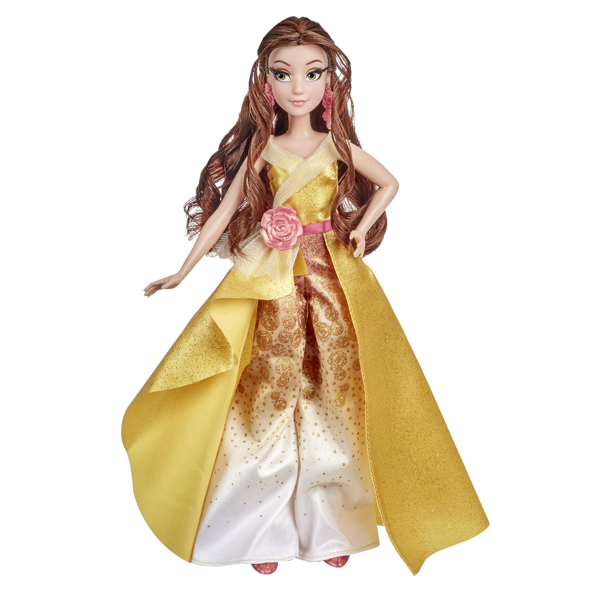 Disney Princess, série Style, poupée 08 Belle au style contemporain avec accessoires, dès 6ans
