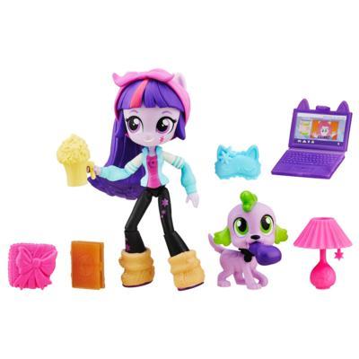My Little Pony Equestria Girls - Mini poupée Twilight Sparkle avec Ensemble Soirée pyjama