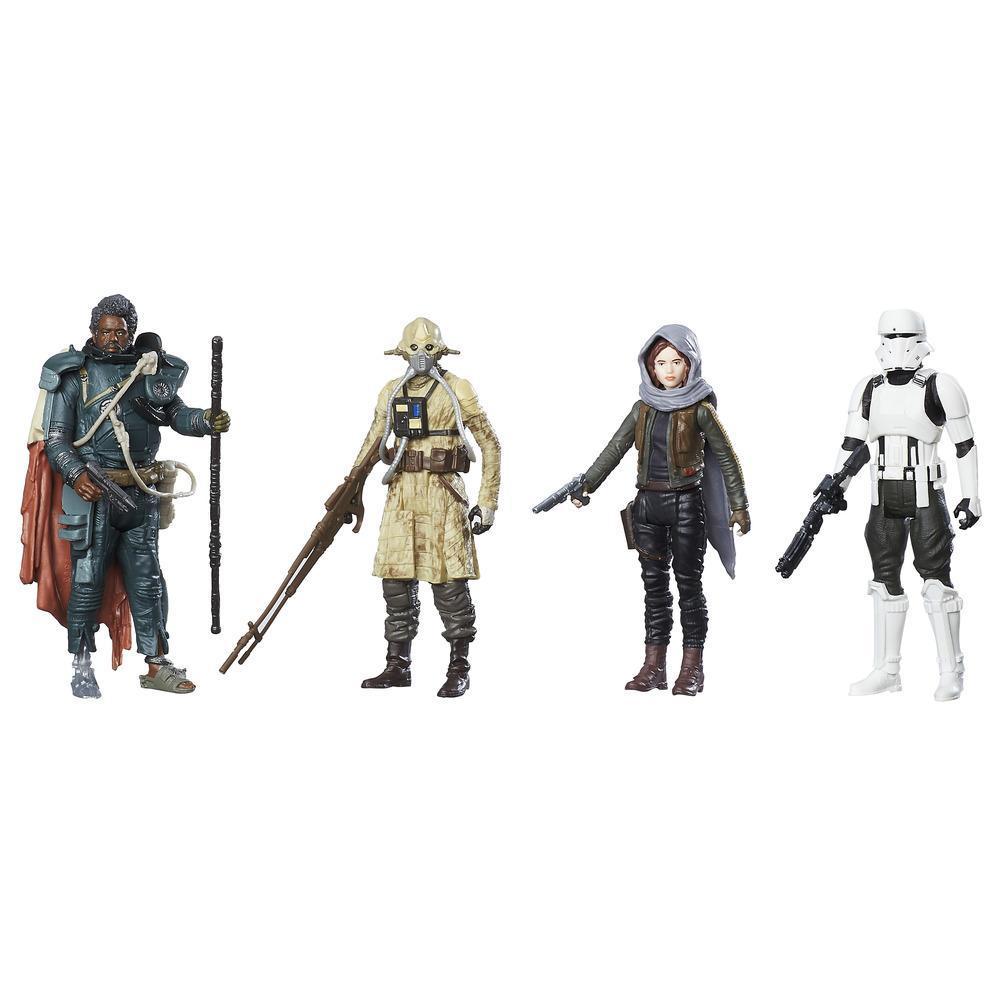 Star Wars: Rogue One– Quatuor de figurines Révolte sur Jedha
