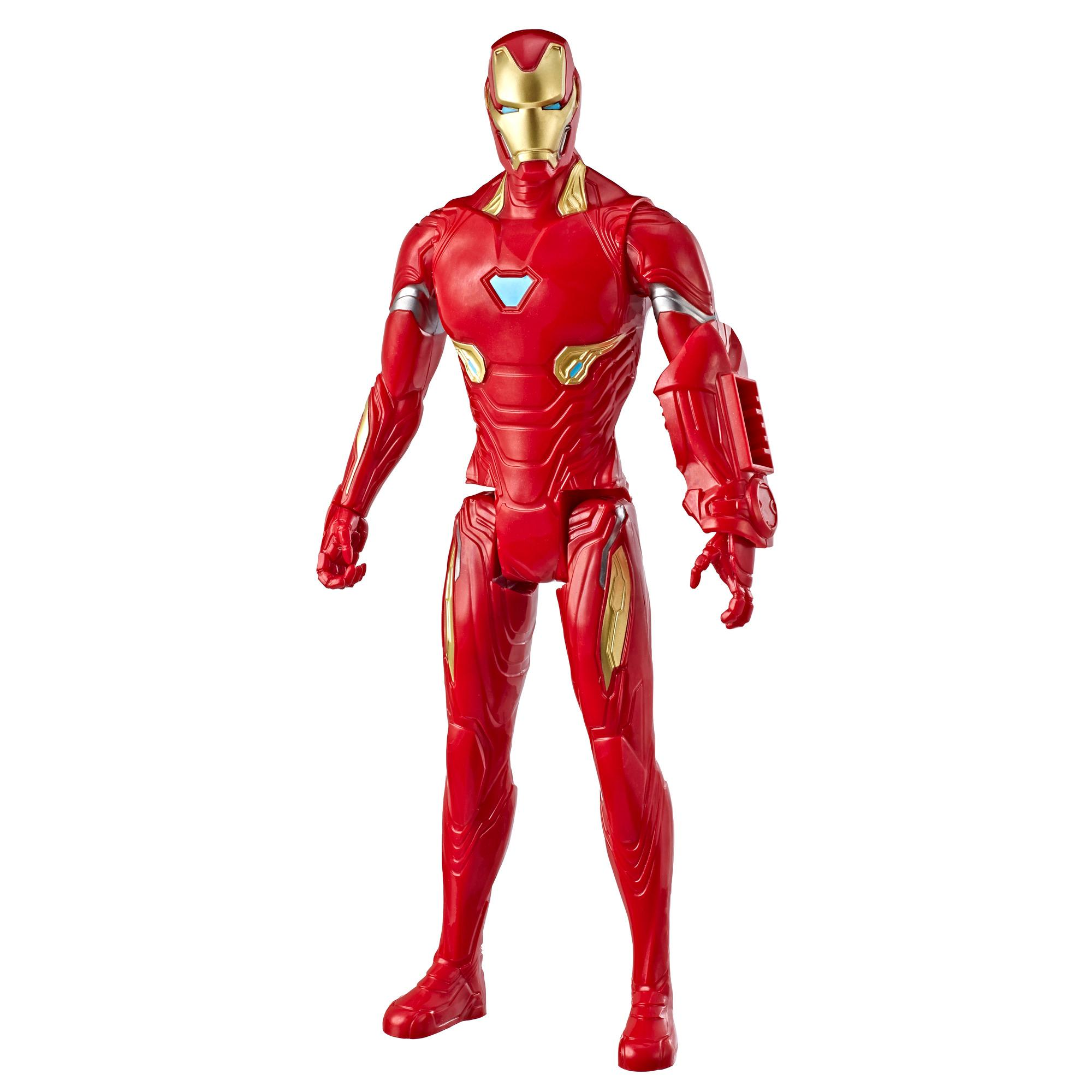 Marvel Avengers : Phase finale Titan Hero Series - Figurine jouet de super-héros Iron Man de 30 cm avec port Titan Hero Power FX