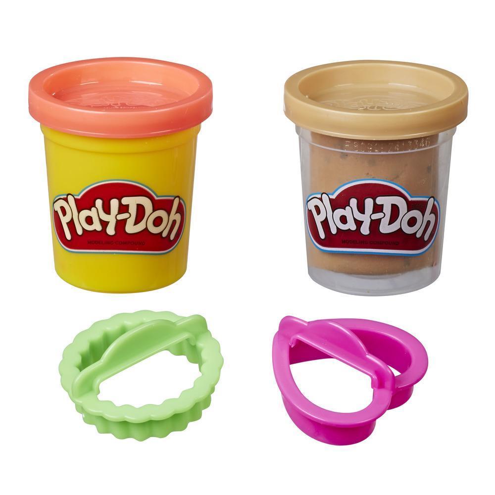 Play-Doh - Paquet de pâte à biscuits, jeu sous le thème de la nourriture avec 2 couleurs de pâte atoxique (biscuits aux brisures de chocolat)